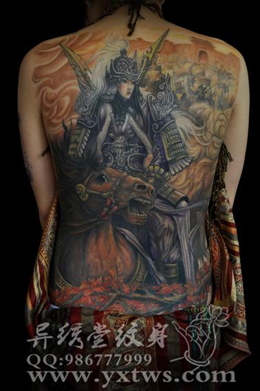 花木兰纹身手臂图片